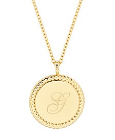 14K Gold Plated Charlie Initial Pendant