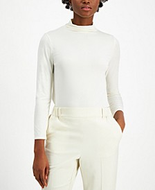 Petite Funnel-Neck Top, Created for Macy's