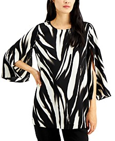 Printed Split-Sleeve Tunic, Created for Macy's