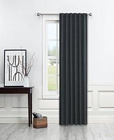 "Paige Light Filtering Back Tab Curtain Panel By Nefeli, 84"" x 52"""