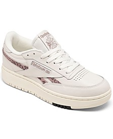 Women's Club C Double Casual Sneakers from Finish Line