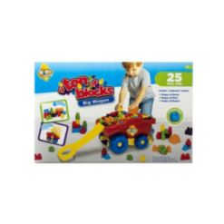 Amloid Kids at Work Ton O Blocks Wagon, 25 Piece Set