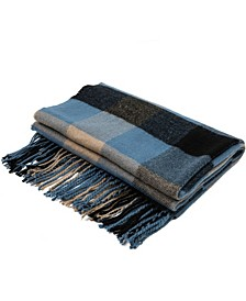 Men's and Women's Plaid Scarf with Tassels