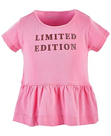 Little Girls Graphic Peplum Cotton T-Shirt, Created for Macy's