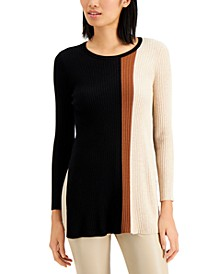 Colorblocked Tunic Sweater, Regular & Petite Sizes, Created for Macy's