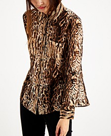 INC Animal-Print Button-Up Shirt, Created for Macy's