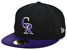 New Era Colorado Rockies 100th Patch 59FIFTY Cap