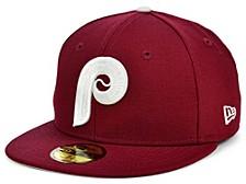 Philadelphia Phillies 100th Patch 59FIFTY Cap