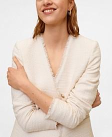 Women's Buttons Tweed Blazer