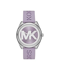 Women's Janelle Lavender Silicone Strap Watch 42mm