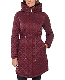 Hooded Quilted Anorak Coat
