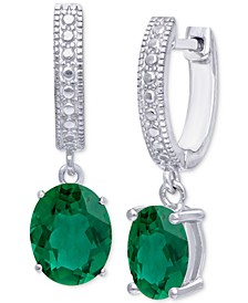 Green Quartz Dangle Drop Earrings (2-3/8 ct. t.w.) in Sterling Silver