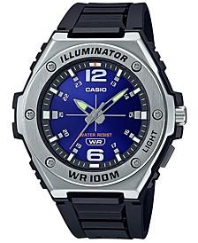 Men's Black Resin Strap Watch 50.6 mm