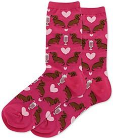 Puppy Love Crew Socks