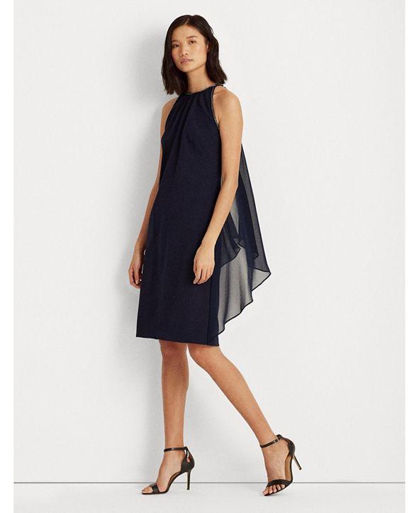 Lauren Ralph Lauren Sleeveless Crepe Dress