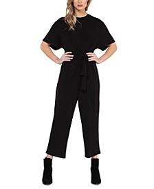 Knot-Front Culotte Jumpsuit, in Regular & Petite