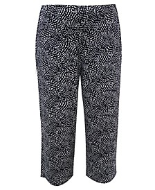 Cropped Dot-Print Pants, Created for Macy's