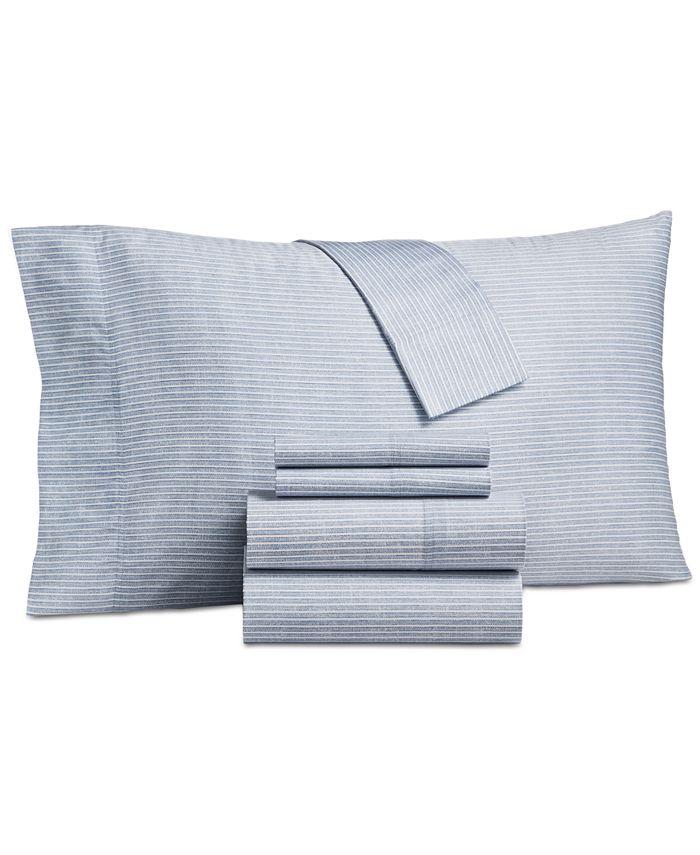 Charter Club - Cotton 325-Thread Count 6-Pc. Stripe California King Sheet Set
