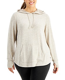 Plus Size Thumb-Hole Hoodie