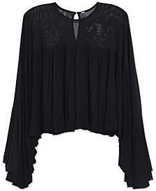 On The Weekend Sheer-Contrast Top