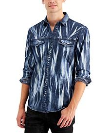 INC Men's Denim Streak Shirt, Created for Macy's