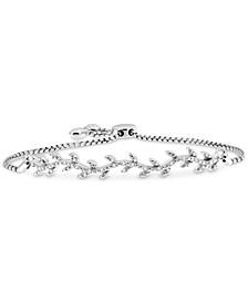 Diamond Vine Bolo Bracelet (1/6 ct. t.w.) in Sterling Silver