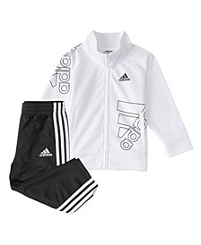 Little Boys Zip Front Brand Love Jacket Pant Set