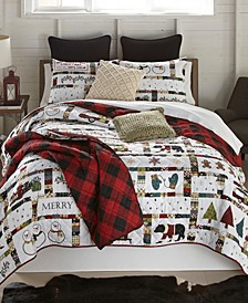 Merry Vacation Quilt 3 Piece Set, King