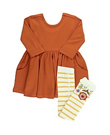 Baby Girls Twirl Dress and Ruffle Tight Set