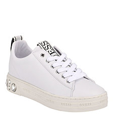 GUESS Women's Rivet Lace-up Sneakers