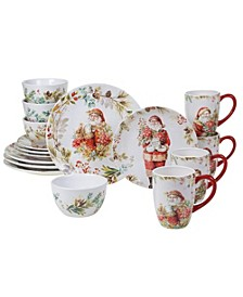Christmas Story 16 Piece Dinnerware Set