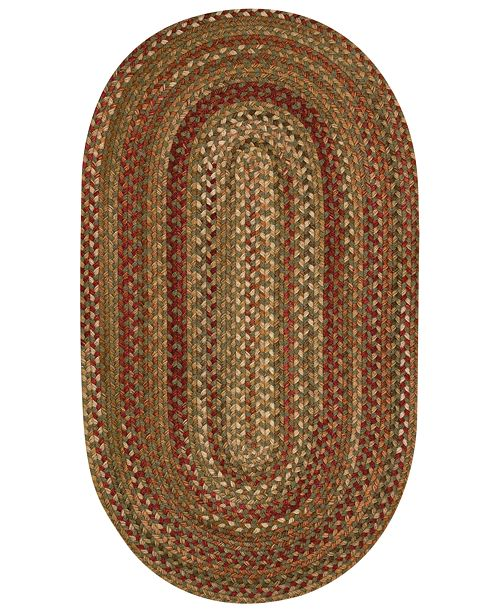 Capel Area Rug, Homecoming Oval Braid 0048-200 Evergreen 5' x 8'