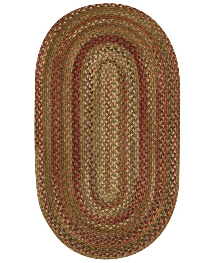 Capel - Area Rug, Homecoming Oval Braid 0048-200 Evergreen 2' x 3'