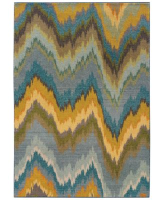 "Area Rug, Kaleidoscope 8020G Electric 9'9"" x 12'2"""