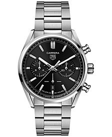 Men's Swiss Automatic Chronograph Carrera Stainless Steel Bracelet Watch 42mm