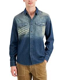 Men's Western Denim Shirt, Created for Macy's