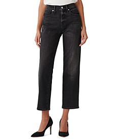 Ava Ankle-Length Straight-Leg Jeans