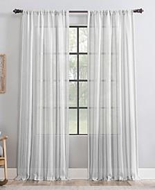 "Retro Stripe Dust Resistant Sheer Curtain Panel, 50"" x 84"""