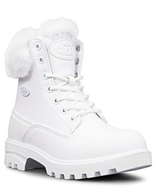 Women's Empire Hi Fur Classic Memory Foam Chukka Regular Fashion Boot