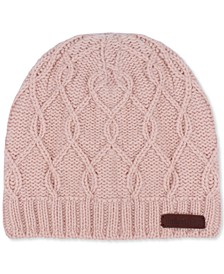 Women's Crossing Cables Beanie Knit Hat