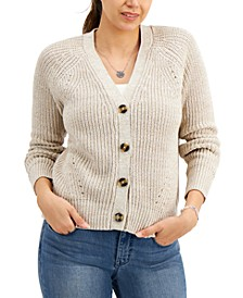 Marled Cotton Boyfriend Cardigan, Created for Macy's