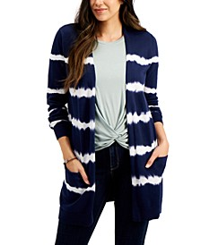 Tie-Dyed Open-Front Cotton Cardigan, Created for Macy's