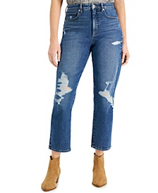 Ripped Mom Jeans, Created for Macy's