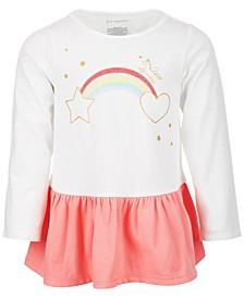 Baby Girls Rainbow Peplum Cotton Tunic, Created for Macy's