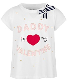 Toddler Girls Daddy Valentine Cotton T-Shirt, Created for Macy's