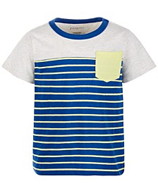 Toddler Boy Stripes Pieced Pocket T-Shirt, Created for Macy's