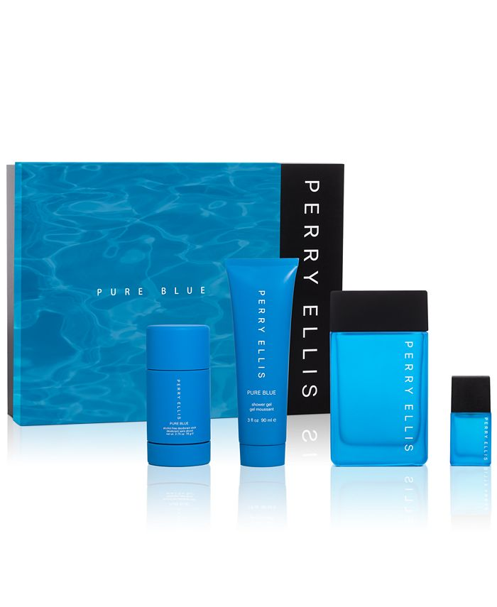 Perry Ellis - Men's 4-Pc. Pure Blue Gift Set