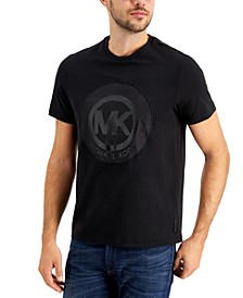 Men's Satin Appliqué Logo Graphic T-Shirt