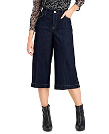 INC High-Rise Culotte Jeans, Created for Macy's