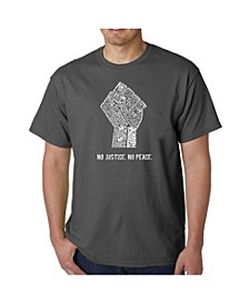 Men's No Justice, No Peace Word Art T-Shirt